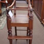Cedar child's high chair